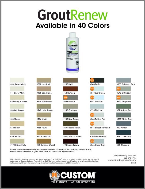 A miracle grout paint product that seals as it stains, Polyblend Grout Renew is available in 40 colors -- MUST TRY!
