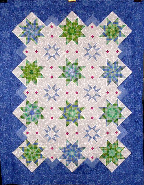 487 best Seeing Stars & Pinwheels Quilts images on Pinterest ... : hexagon star quilt pattern free - Adamdwight.com