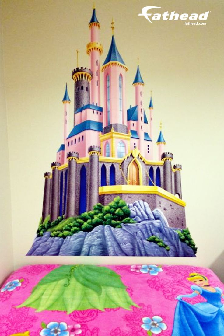 20 best images about diy girls bedroom decor ideas wall for Disney princess castle mini mural