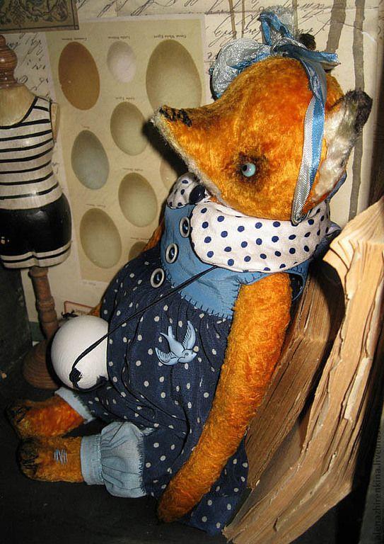 Купить Лисичка-сестричка - оранжевый, лиса, лис, мишки тедди, коллекционные игрушки, Алёна Жиренкина