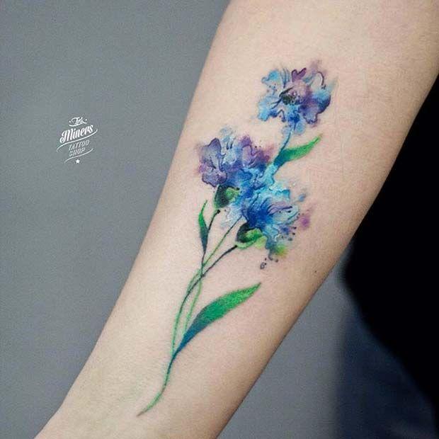 20 tatuajes de acuarela que todas las mujeres querrán tener