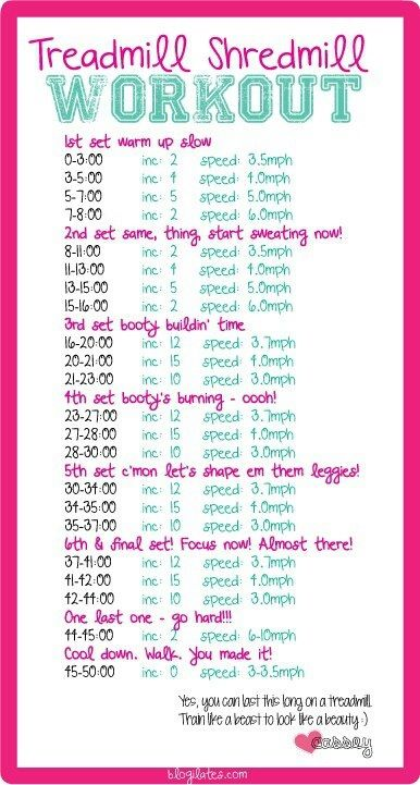 treadmill cardio workout