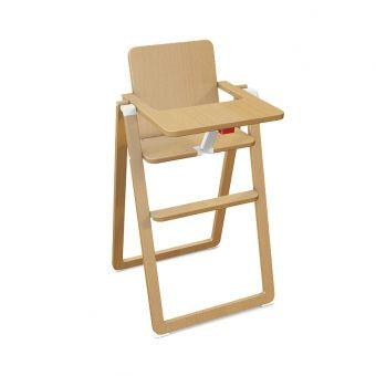 Chaise haute pliable - Naturel