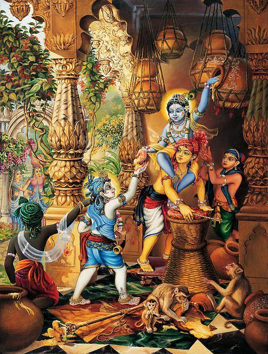 Krishna Balaram Stealing Butter