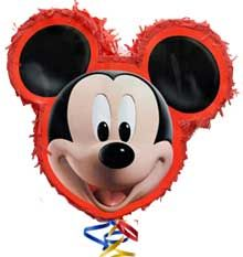 Pinata for your next party!? Yes!   Piñatas can be filled with anything small and unbreakable, so they aren't just for kids! πινιάτα, mickey