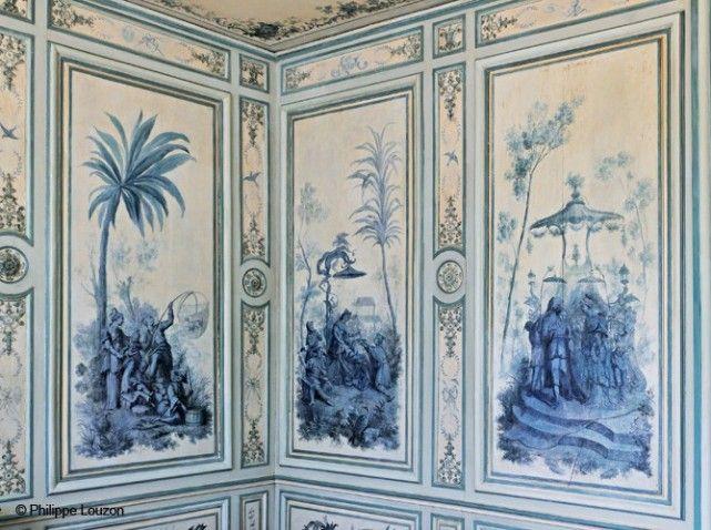 Boudoir du château de Champs-sur-Marne : peinture de chinoiseries