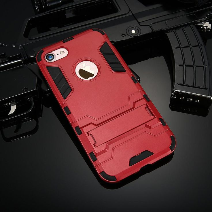 This iPhone case has been designed by Kisscase with a unique hybrid design which combines their armour case with a kick-stand. The case is built from 2 layers, the first is a TPU inner layer that covers the edges and corners of the phone to protect against drops. The second layer is a tough PC shell which protects against scratches and features the kick-stand. For use with iPhone 5, 5S, 5C, SE, 6, 6 Plus, 6S, 6S Plus, 7, 7 Plus, 8 and 8 Plus. Available in 7 colours. Only £9.49 with Free…