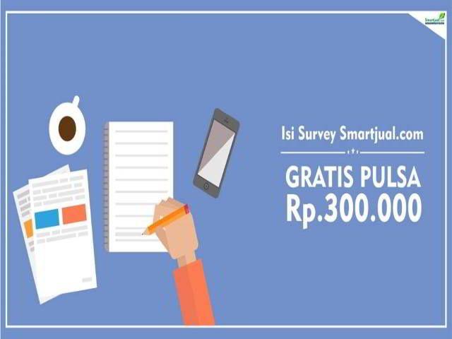 Smartjual Survey Kepuasan Pelanggan Berhadiah Pulsa 300K - Hai sobat MisterKuis! Mau mendapatkan hadiah pulsa Rp 300.000 untuk 3 orang yang beruntung?