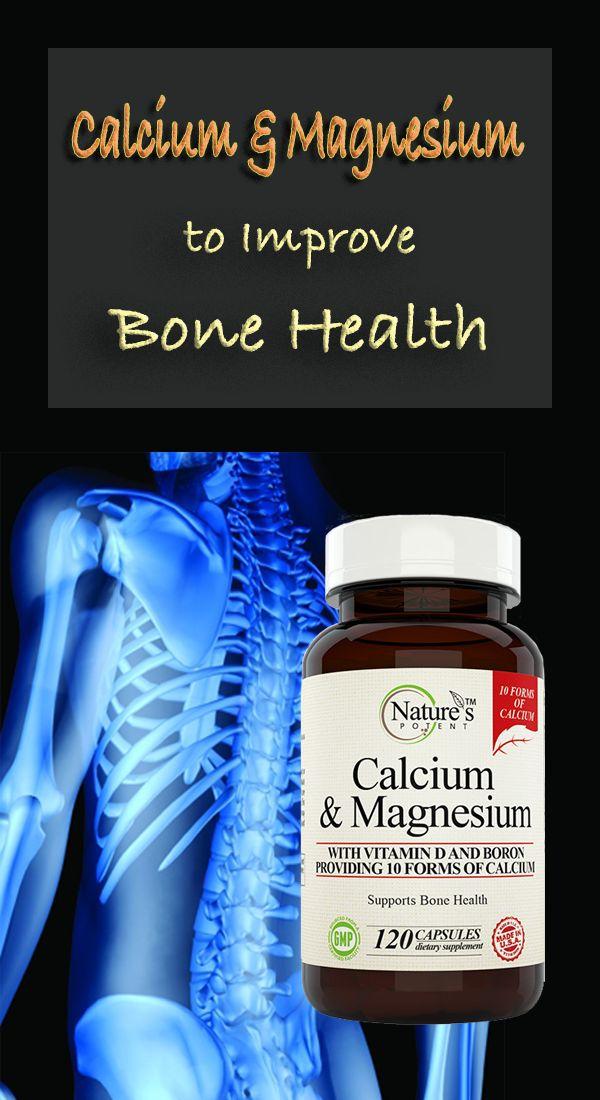 Calcium & Magnesium Supplement to improve Bone Health & Maintain a Healthy Immune System - Wellness Supplement