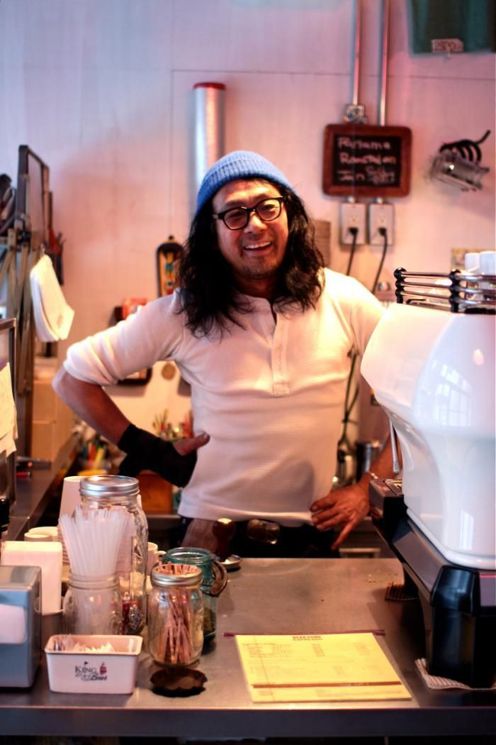 Katsuyuki Tanaka, owner and sole barista of Bear Pond coffee shop in Kitazawa: Remodelista