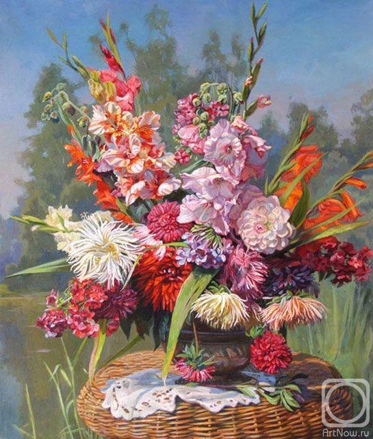 Панов Эдуард. Цветы у пруда