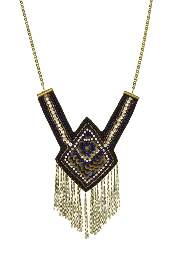 Harry and Zoe - Beaded Tribal Statement Necklace, $20.00 (http://www.harryandzoe.com/beaded-tribal-statement-necklace/)