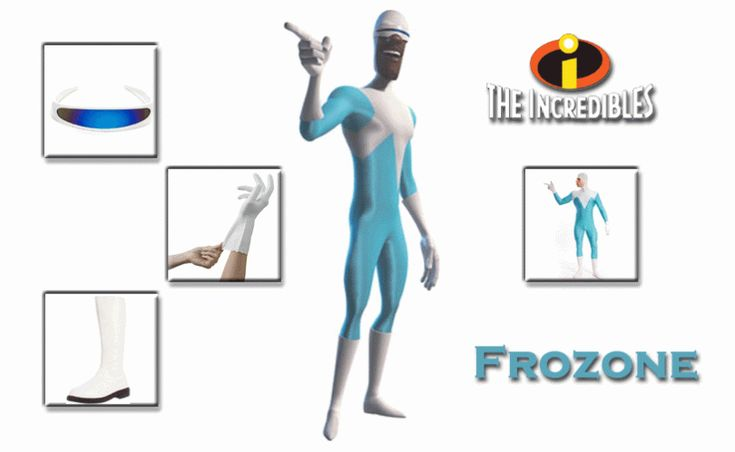 HAVE YOUR OWN FROZONE COSTUME FROM THE INCREDIBLES 2 IN 4 SIMPLE STEPS - FIND YOUR FUTURE