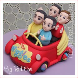 The Wiggles in the Big Red Car.