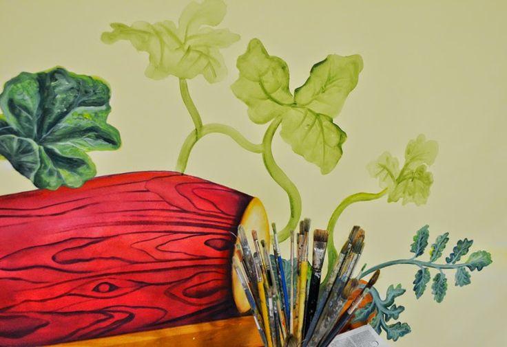 """Marthazul: Mural """"La madera sabía de música"""" (en proceso)"""