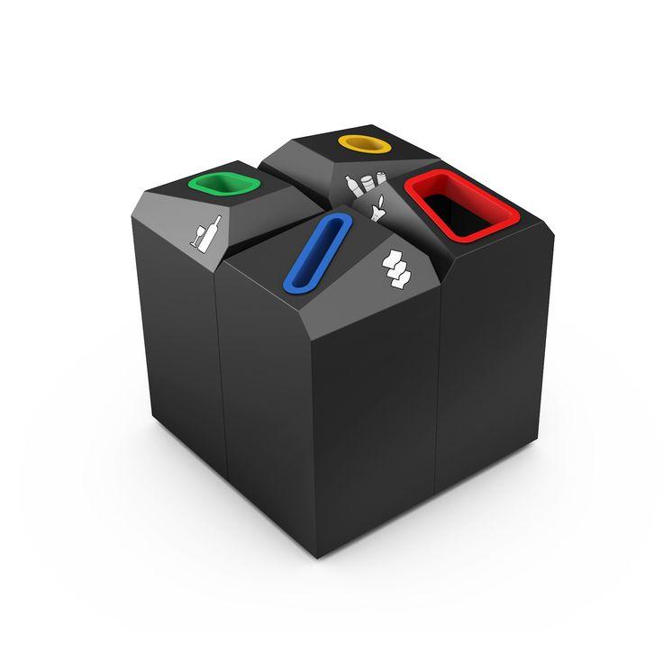 OFFICE TRI Poubelle recyclage pour bureau design modulaire
