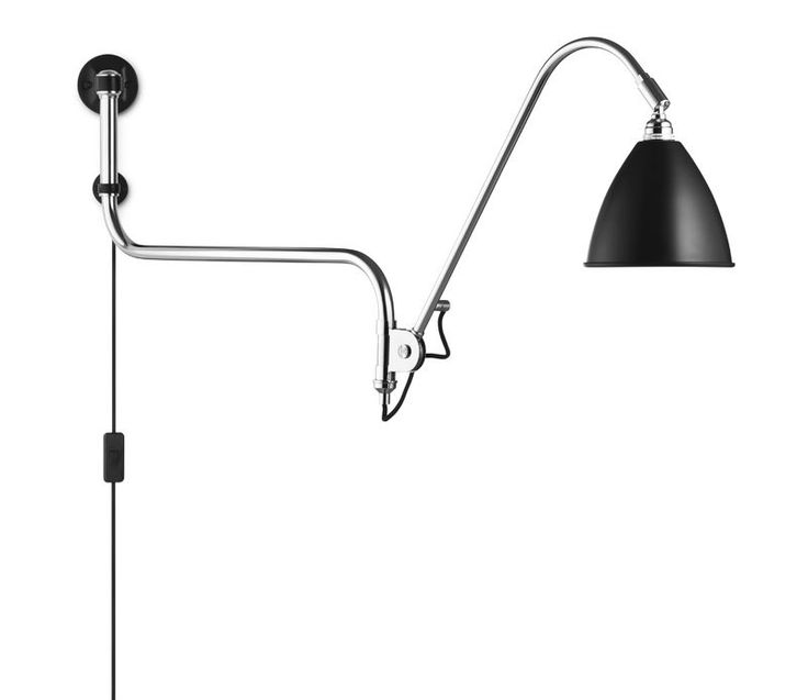 GUBI // Bestlite BL10 Wall Lamp in black/chrome