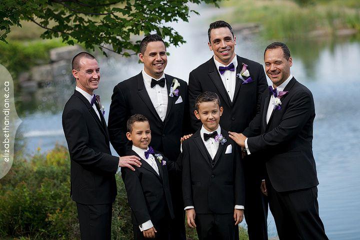 Handsome groom and groomsmen!  Calla boutonnieres. #ottawadecor #ottawaflowers #weddingdecor #weddingideas #weddinginspiration #ottawawedding #ottawadecorator #613 #elegantwedding #uniquewedding #WeddingBellesDecor #ottawaweddingdecorator #boutonnieres #bouquets