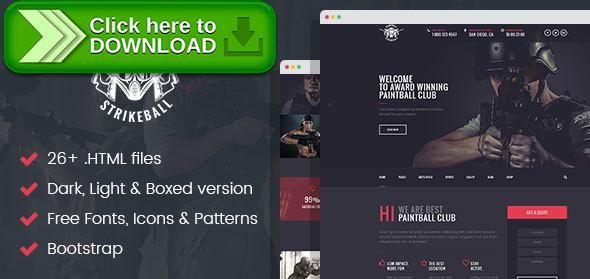[ThemeForest]Free nulled download Paintball & Strikeball Club - Premium HTML5 Template from http://zippyfile.download/f.php?id=24872 Tags: booking, clan, club, game, marker, military, outdoor, paintball, shop, sport, strategy, strikeball, tactics, team, weapon