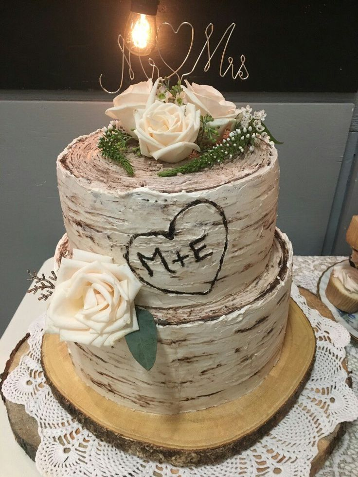 Erin and Mike 2017 rustic wedding cake