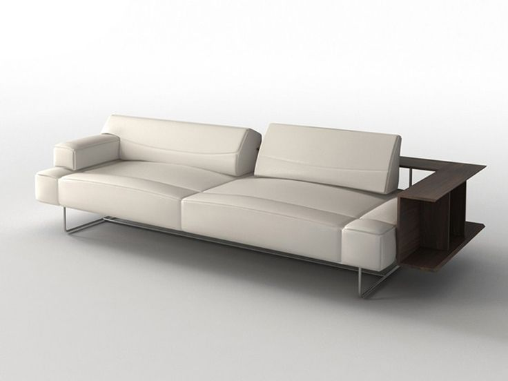 Anbausofa aus Leder CHIMERA by i 4 Mariani | Design Matteo Nunziati