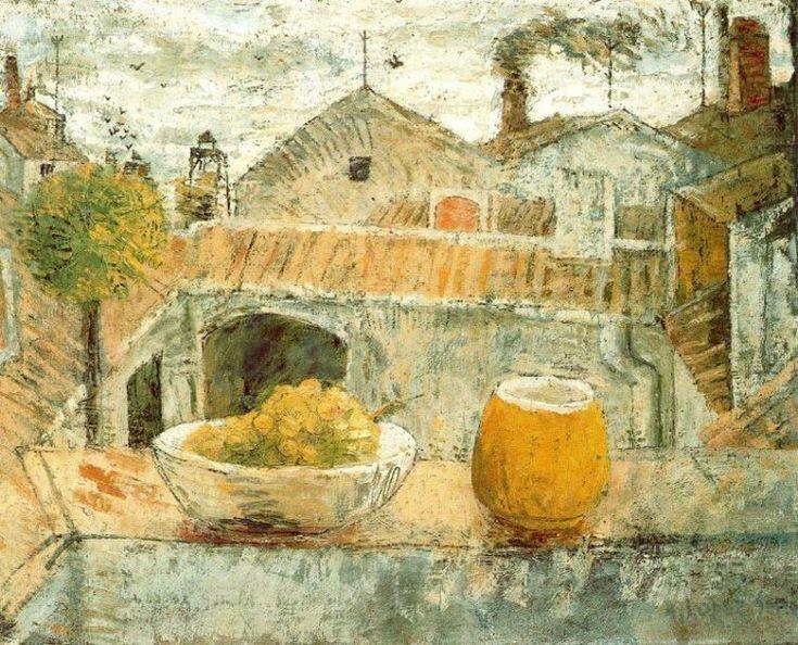 Plato de uvas y jarra (1953) Antonio López García