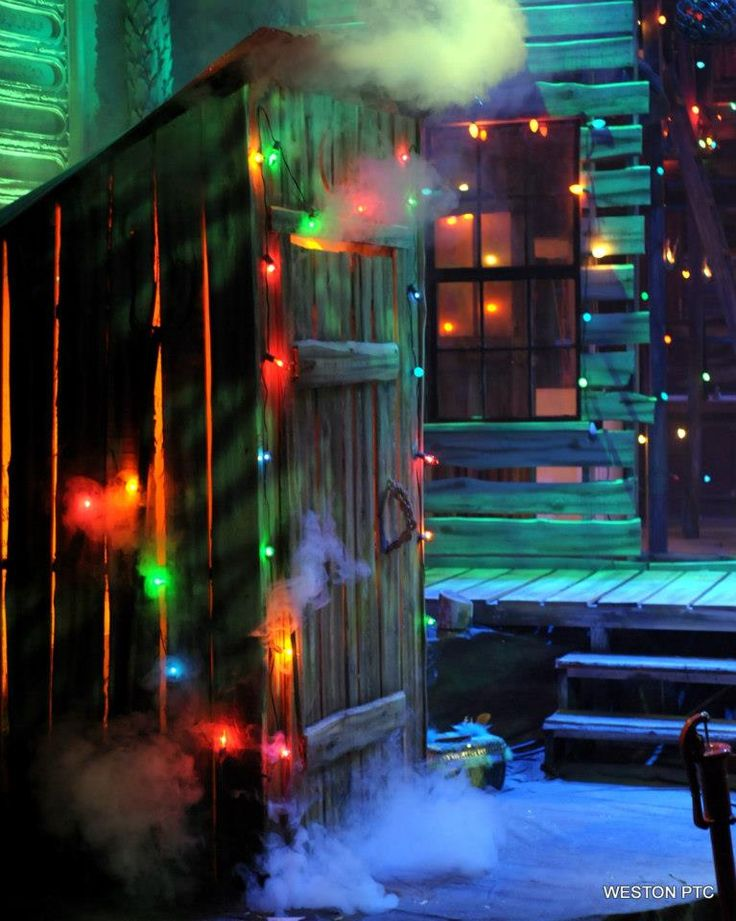 johnston county nc christmas lights | and Christmas bedecked outhouse of The Sugarbean Sisters. Light ...