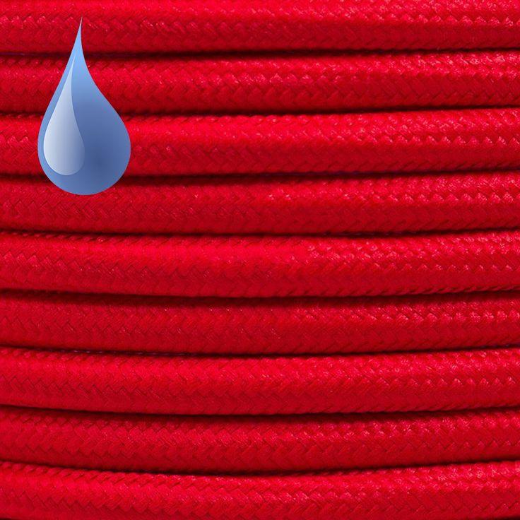 Comprar | Cable textil decorativo exteriores color rojo | Cable textil colores exterior  #iluminacion #decoracion #accesorioslamparas #lamparas #cablesdecolores  #cables electricos #cableelectricoexterior