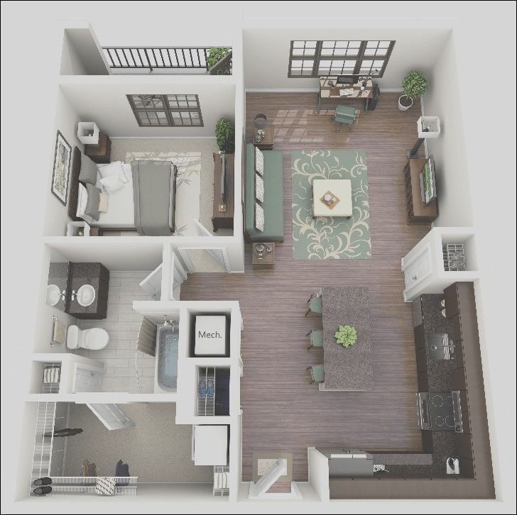 14 Regular One Bedroom Apartment Design Image In 2020 One Bedroom House Apartment Layout Apartment Design