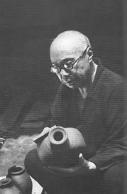 Hamada Shoji 1894-1978  Shoji was a National Treasure in Japan.Ceramics Pottery, Living Treasurehamada, Shoji Hamada, Shoji 1894 1978, Hamada Shoji, Japanese Artists Studios, 1894 1978 Shoji, Japanese Potter, Ceramics Artists