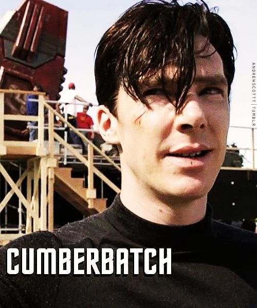 Benedict Cumberbatch as Kahn. My favorite super villain ever! Aside from BBC's Moriarty that is