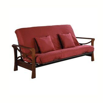Serta Futons by Wolf Naples Futon by Serta. $349.00. Curvy, fun and hip. The Naples frame is a clever combination of a transitional sleigh arm styling with a hint of modernism. The soft round arms of the Naples make a bold design statement. Futon Mattress Sold Separately