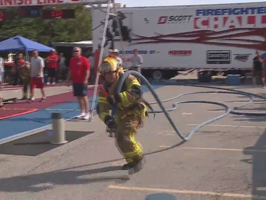 LOUISVILLE, Ky (WHAS11) -- Louisville Metro Fire Department was among 31 other teams competing in the Firefighter Combat Challenge on Saturday.- Firefighter Combat Challenge