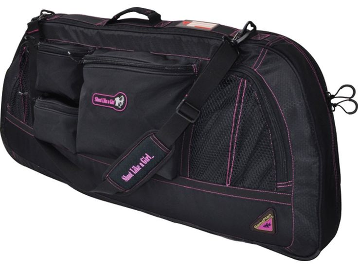 bow case shoot like a girl | Game Plan Gear Shoot Like a Girl Bow Case Black and Pink