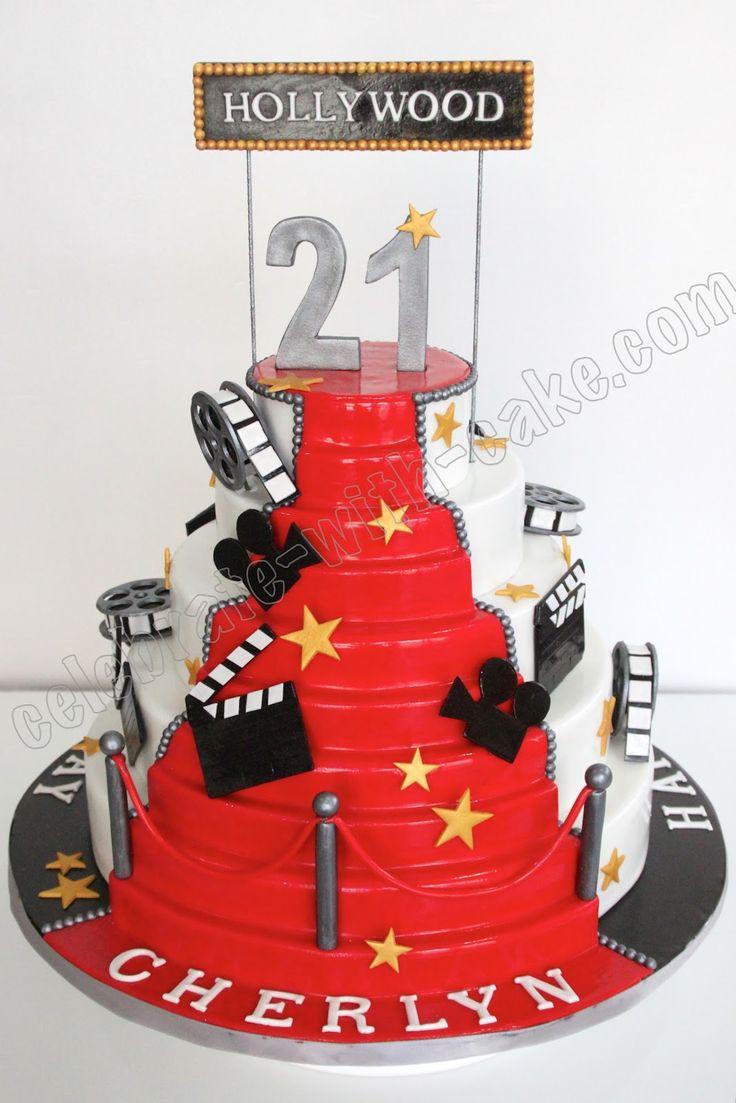 Red Carpet Theme Cakes Pin In Hollywood Theme Birthday Cake - Movie themed birthday cake