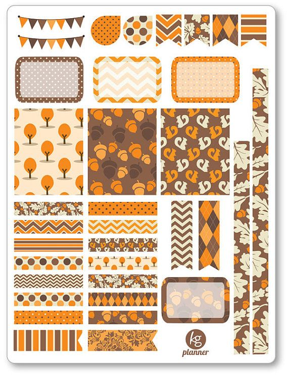 Autumn Mood Decorating Kit / Weekly Spread Planner by PlannerPenny