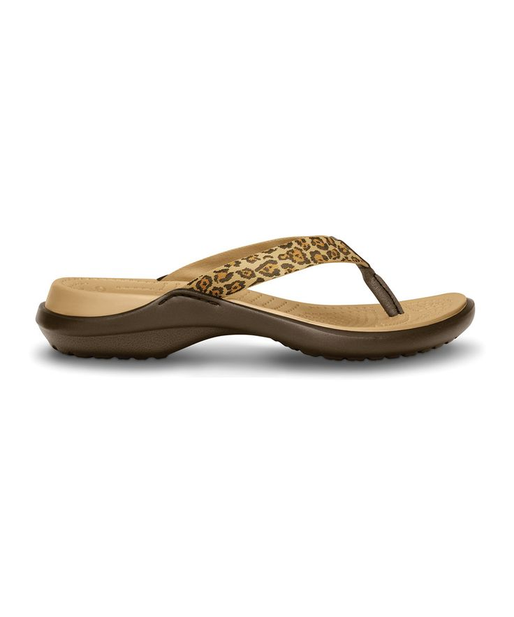Look at this Espresso & Gold Leopard Capri Flip-Flop on #zulily today!