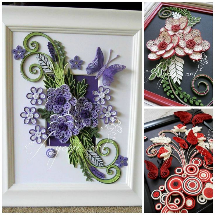 Paper quilling artist quilling designs quilling flowers for Quilling strips designs
