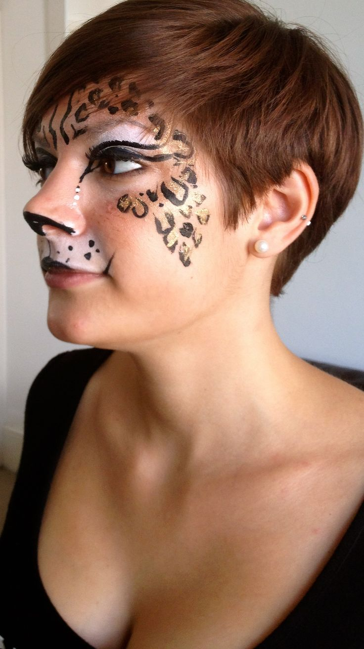 Leopard Print Face Paint Design
