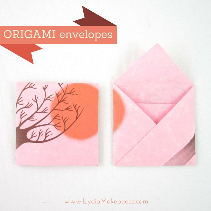 how to make an origami envelope step by step instructions