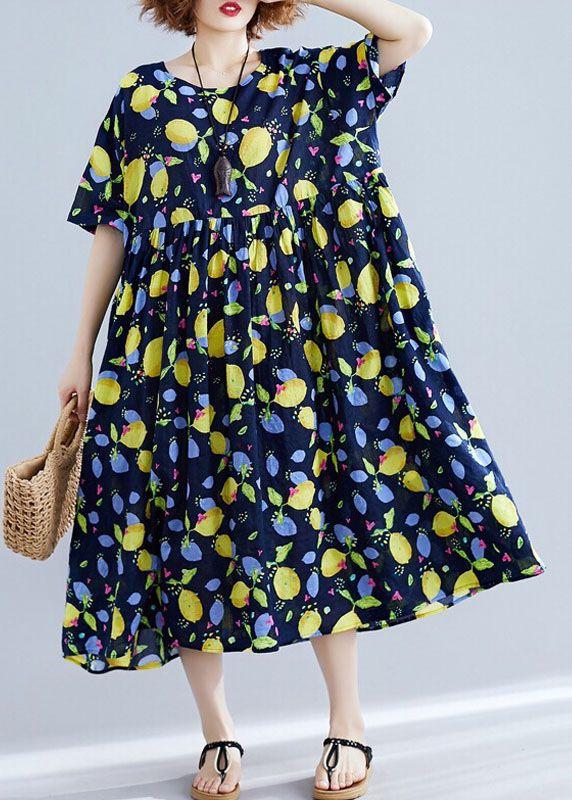 231dcd06ba184f French black prints linen outfit high waist Art summer Dress in 2019 ...