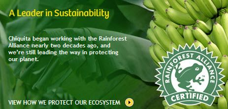 chiquita and the rainforest alliance case In chiquita's case, three kinds of premises are particularly relevant: historical   to whether chiquita's bananas from rainforest alliance certified farms achieve.