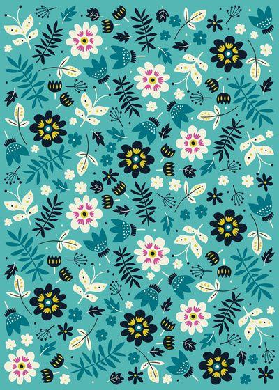 Fresh Blossoms Greens By Anna Deegan Floral PatternsDesign PatternsPrint PatternsWallpaper