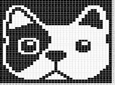 French bulldog knitting chart