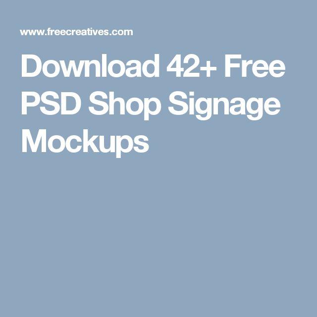 Download 42+ Free PSD Shop Signage Mockups