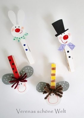 Clothes pin figures