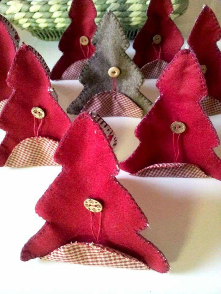 Alberi di Natale porta dolcetti in feltro