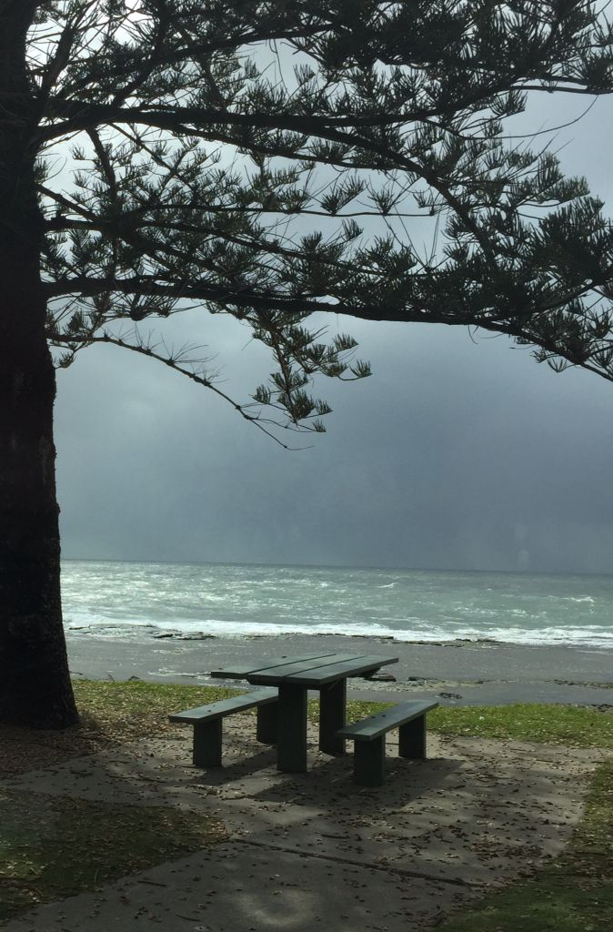Stormy Morning at Shelley Beach Caloundra, Sunshine Coast, Qld Australia photo by Susan.  A favourite place to sit on our walk