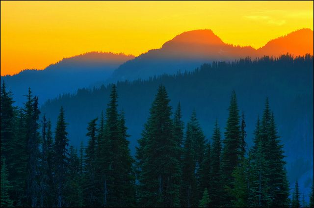 Mt Rainier Last Light, Washington State | Flickr - Photo Sharing!