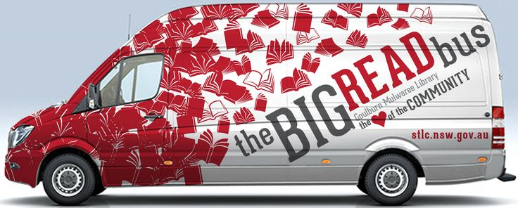 The Big Read Bus  Photo courtesy of Goulburn Mulwaree Council (2016)